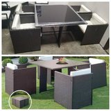 New! Modular Outdoor Patio Dining Table + 4 Chairs FREE DELIVERY in Camp Pendleton, California