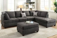 New! Ash Black Dorris Fabric Sectional Sofa FREE DELIVERY in Camp Pendleton, California