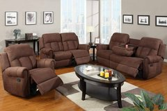 New Microfiber Sofa Recliner with Console FREE DELIVERY starting in Camp Pendleton, California