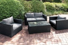 New! Outdoor Patio Loveseat + 2 Chairs + Ottoman FREE DELIVERY in Camp Pendleton, California