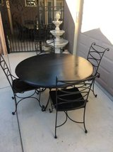 Solid Wood and Wrought Iron 5 Piece Dining Set in Fairfield, California