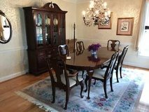 Dining Room Set (11 Pieces) - Solid Wood - Cherry Finish in Fairfax, Virginia