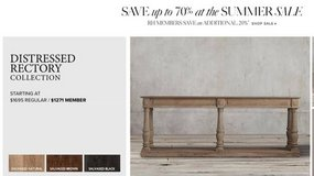Restoration Hardware Rectory Table - Salvaged Natural - Used in Fairfax, Virginia