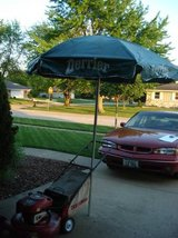 PATIO UPRIGHT STANDING UMBRELLA (very good condition) in Joliet, Illinois
