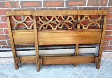 Two Vintage Drexel Headboards Twin Bed Wood Mid Century in Aurora, Illinois