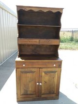 Solid Wood Dining Hutch / China Cabinet in Fort Leavenworth, Kansas