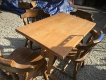 VINTAGE WOODEN RECTANGULAR TABLE (NO CHAIRS) TABLE ONLY in Aurora, Illinois