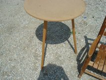 "3 leg - round table (does not have glass) shown ""as is"" in Aurora, Illinois"