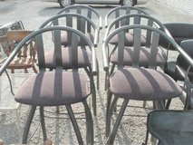 SET OF 6 BAR STOOLS (WINE COLOR SEATS) in Aurora, Illinois