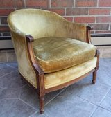 Vintage Marshall Fields Barrel Back Lounge Chair Mid Century Hollywood in Chicago, Illinois