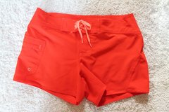 Athleta Clearwater Saffron Red Swim Board Shorts, Contrast Tie, Size 8,  #983383 in Joliet, Illinois