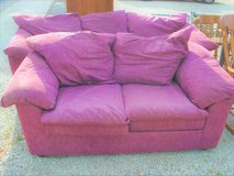 WINE COLOR - COUCH WITH MATCHING LOVESEAT - SOLD AS SET in Naperville, Illinois