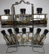 New, Never Opened! Bath Oil & Crystals Set w/ Stainless Steel Caddy in Chicago, Illinois
