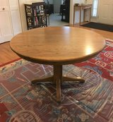 Solid Oak Table with 6 Chairs and 2 Leaves in Oswego, Illinois