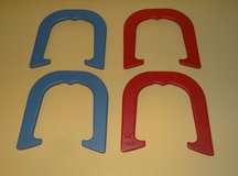 Bandit Pitching Horseshoes - Two Pair Set (4 shoes) Red & Blue / Made in USA NEW in Naperville, Illinois