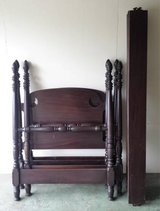 2 Antique Sligh Furniture Twin Four Poster Wood Bed Frames in Naperville, Illinois