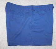 "Ann Taylor LOFT Blue City Shorts, Flat Front, 4"" Inseam, Size 10 in Bolingbrook, Illinois"