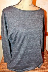 Coldwater Creek Silk/Nylon/Cotton Black Sparkle Lightweight Sweater, Sz 1x /Sz18 in Bolingbrook, Illinois