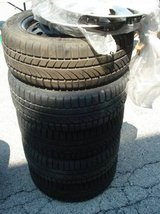 SET OF 5 BMW INFINITY WINTER TIRES W/WHEELCOVERS in Bolingbrook, Illinois