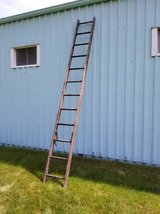 "Wood Ladder 12 Rungs 144"" (12') Weathered VINTAGE ANTIQUE SHABBY CHIC in Aurora, Illinois"