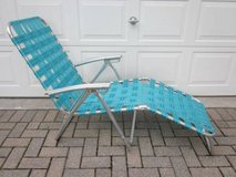 Aluminum Folding Chair Chaise Lounge Aqua ~ VINTAGE 1960s / 1970s in Aurora, Illinois