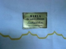 "vintage 1960's pillowcases pair 32 1/2"" x 20"" yellow scalloped hem noswt! marla in Brookfield, Wisconsin"