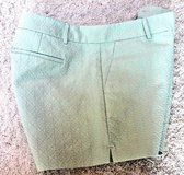 NWOT Banana Republic Mint Green City Shorts, Raised Graphic Print, Sz 10 in Bolingbrook, Illinois