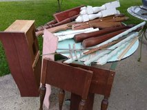 Lot Wood Legs, Trim, and Drawer in Orland Park, Illinois