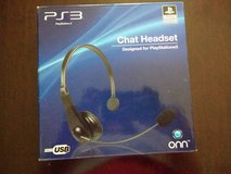 PS3 Chat Headset, barely used in Joliet, Illinois