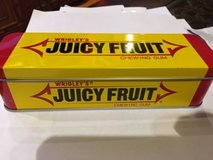 wrigley's juicy fruit chewing gum hinged collectable tin empty-c14 in Orland Park, Illinois
