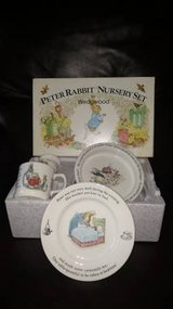 Beatrix Potter Peter Rabbit Nursery Set by Wedgewood 4 piece NIB in Chicago, Illinois