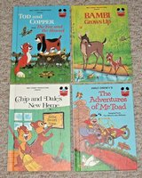 RARE Lot 4 Vintage 1979 1981 Walt Disney Books Mr Toad Tod Copper Chip Dale Bambi in Joliet, Illinois