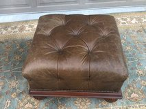 Walter E Smithe leather ottoman in Aurora, Illinois