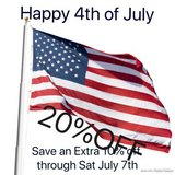 20% OFF 4th OF JULY SALE ENDS SATURDAY 7th in Brookfield, Wisconsin