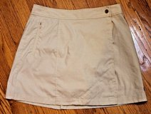 Cute Althleta Adventure Travel & To Fro Khaki/Tan Nylon/Spandex Skort, Size 4 in Bolingbrook, Illinois