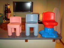 """Little Tikes Toddler Child Chunky Chairs """"2"""" & Swivel Chair L@@K!! in Brookfield, Wisconsin"""