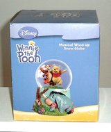 New Disney Winnie The Pooh Musical Motion Snow Globe Plays Beautiful Dreamer in Morris, Illinois
