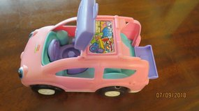 1990 Fisher Price Car Van for CHUNKY STYLE Little People Pink & Purple Musical Sounds in Warner Robins, Georgia