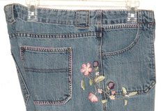 Gap Low Rise Boot Cut Floral Embridered Denim Jeans Womens 16R 16 x 31 Regular in Morris, Illinois
