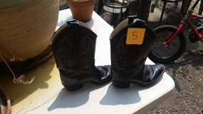 Kid's Size 5 Cowboy Boots, Size 2 Tennis Shoes in Fairfield, California
