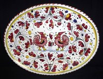 Vintage Deruta of Italy  Rooster Oval Serving Platter in Orland Park, Illinois