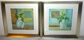 Set of 2 Matted / Framed Art - Plants in Jars in Orland Park, Illinois