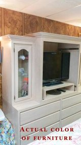Amish White Oak Bureau/Entertainment Center in Eglin AFB, Florida