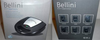 Like New! Bellini 6n1 - Waffle Sandwich Donut Grill Square Sandwich & Omelet Maker in Orland Park, Illinois