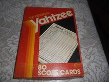 YAHTZEE Blank Score Cards Over 80 score cards. in Spring, Texas