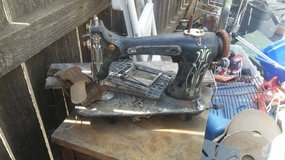 Beat-up Old Sewing Machine Body in Travis AFB, California
