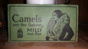 Index Card Sized Vintage Ad for Camel in Travis AFB, California