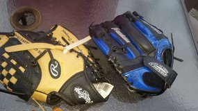 Kid's Baseball gloves and cleats in Fairfield, California