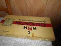 Vintage  MONOPOLY Board Game with game pieces, cards, hotels, money, gameboard, and original box! in Spring, Texas