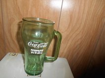 Green Thick COCA COLA Handled Glass!  Whataburger / Cowboy Wording! in Spring, Texas